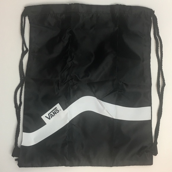 56636a9d73e1 New Black Vans drawstring Backpack Bag